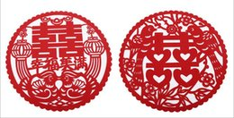 Canada Vintage Style Chinois Fleur Dragon Phoenix Oiseau Rouge Double Bonheur Stickers Muraux Pour La Décoration Intérieure De Mariage Décoration Offre