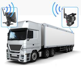 "Camara de trailer online-100M 2.4 GHz vista posterior inalámbrica ca 7 ""800 * 480 LCD Car Monitor + cámara de copia de seguridad Cámara de visión trasera para camión Trailer Bus Parking Video System"