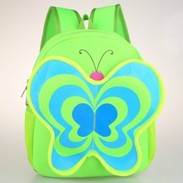 Wholesale Lunch Bag Backpack - Waterproof Butterfly Kids Zoo cartoon Backpack School Bag Backpack Baby Children Lunch Bag For Boys Girls Free Shipping