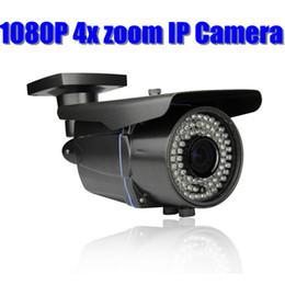 Wholesale Ip Cam Zoom - Onvif Full hd outdoor IP Camera 1080P 2.0 MegaPixel waterproof IR security 2.8mm-12mm varifocal manual 4x zoom Camera Network POE IP cam