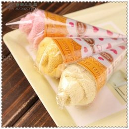 Wholesale Ice Cream Favors - Wedding birthday Patry favor Christmas gifts ice cream cake towel 20cmx20cm 100% cotton Towel wedding favors baby shower favors gifts