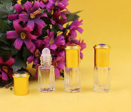 Wholesale hanging glass beads - 3ml 3 ml roll on bottles walk bead the ball in the evening Frosted glass perfume bottles Mini bottle with hang rope steel ball Home Fragranc