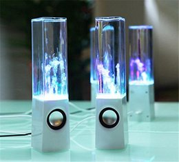 Wholesale Dancing Water Speaker Active - Dancing Water Speaker Active Portable Mini USB LED Light Speaker For iphone ipad PC MP3 MP4 PSP subwoofer water-column audio