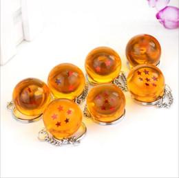 Wholesale Key Rings For Beads - Dragon Ball Key ring cartoon keychain Pendant for children Christmas gift 7 styles 1000 PCS YYA807