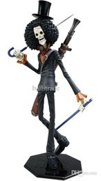 "Wholesale Pop Brook - Wholesale-One Piece Action Figure Brook POP Portait Of Pirates Skeleton Cannon Anime PVC 12"" Toys Free Shipping"