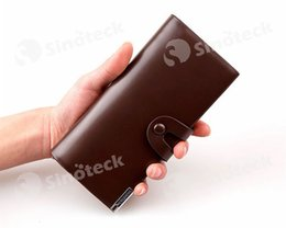 Wholesale Wholesale Acrylic Business Card Holders - Men Wallet Casual Business Leather Clasp High Grade Large Capacity Leather Wallets For Men Leisure Men Wallets Free DHL Factory Direct
