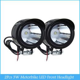 Wholesale Motor Led Lamps - Universal 2Pcs 3W Led Motor Spot Light Motorbike LED Front Headlight Head Lamp Motorcycle Lightng source C386