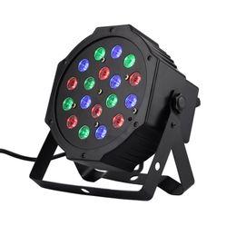 Wholesale Moving Led Light Rgb Dmx - 18*1W Par LED RGB DMX 512 Dj Stage Lighting moving heads High power For Disco Party Nightclub