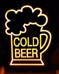 "Wholesale Beer Wall Light - LD078 Cold Beer bar pub shop home wall decor Display LED Light Sign Advertisement decoration display lighting 18""X10"""