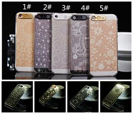 Wholesale Iphone Glow Cover - cellphone flash Multi Colors Flash LED Lighting Case For iphone 5 5S Glow Hard Cover Luminous
