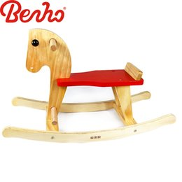 Wholesale Baby Wood Chair - Wooden Rocking Horse Animal Kid Chair Children Baby Vintage Rocker Toy Infants Baby Kids Developmental Toy Bithrday Gift New Hot sale