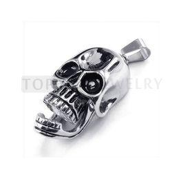 Wholesale Mens Tribal - Teboer Jewelry 3pcs Stainless Steel Tribal Biker Mens Skull Pendant MEP215