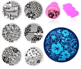Wholesale Nail Art Polish Stamp Set - New Arrive 60Designs Nail Art Stencils Stamping Template Polish Print Nail Image Plate Stamper Scraper Set DIY Manicure Tools