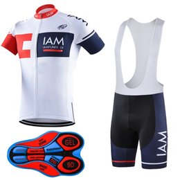 Wholesale green lycra pants - New arrive 2017 iam Pro team Cycling Jersey Bib Short Pants With Gel Pad Ropa de Ciclismo Maillot Bike Wear Cycling Clothing Set