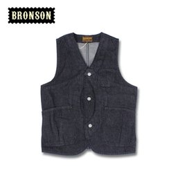 Wholesale Magic Vest - Fall-2016 Bronson Denim Magic Pocket tool vest men's outdoor tide vest pocket Vests