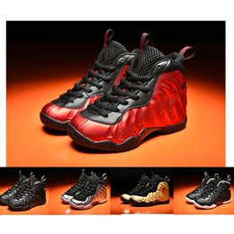 Wholesale Boy Surfer - Metallic Gold Penny Hardaway kids Childrens Sneakers Silver Surfer Age Dr. Doom University Red Basketball Shoes for Girls Boys