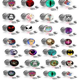 Wholesale Designed Body Jewelry - Mix 25 Designs Body Piercing Jewelry Cheater Ear Gauges Plugs and Tunnels 50pcs lot Pircing Fake Ear Plug