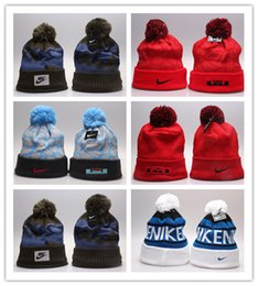 Wholesale Hat Ski Cap - Free Shipping Winter Warm Knitted Hat NY Letters Embroidered Beanie For Unisex Fashion Outdoor Caps Like Skiing Etc.