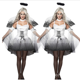 Wholesale Mummy Cosplay - Wholesale-Halloween witch costume mummy bride bridal Cinderella Halloween ghost angel cosplay costume