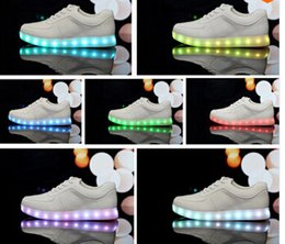 Chinese 7 Colors LED luminous shoes unisex sneakers men & women sneakers USB charging light shoes colorful glowing leisure flat shoes many colors manufacturers