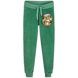 Wholesale 2t Fleece Pants - Kidsalon Children Winter Pants for Boys Green Fox Pattern 2017 Brand Girls Pants Kids Tracksuit Trousers Velour Fleece Baby Girl Leggings