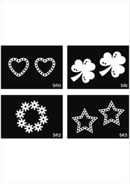 Wholesale Glitter Body Paint Stencils - free shipping 500 sheets mixed designs tattoo Template Stencils for Body art Painting Glitter Tattoo kits