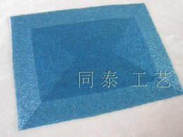 Wholesale Beaded Mats - luxury rectangle blue handmade beaded table runner glass beads charger beaded table mat beaded placemat set glass beads decorative dining