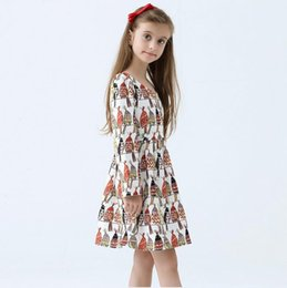 Wholesale Printed Princess Dresses Holiday - 2016 Girls Dress Winter Kids Clothes Cartoon Girls Clothing Brand Children Dress for Princess Holiday Party Wedding