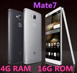 Wholesale Tri Proof Phones - Free Shipping 2015 new unlocked phone Huawei Ascend Mate 7 Phone Octa Core Android 4.4 Smartphone 4GB RAM 32G ROM 5.5 ips 13.0MP with gifts