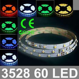 Wholesale Pc Meter - DC12V input LED Band Epistar Chip 3528 SMD 60pcs LED Meter Flexible Strip Light, 5 Meter Roll