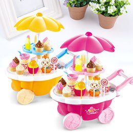 Wholesale Toy Cars Play Music - Wholesale- Electronic Ice Cream Car Toy Light Music Kids Play Learning Educational House
