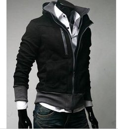 Wholesale Free Standing Cooler - Fall-Free shipping!! wholesale & retail men's jacket men's cool outwear coat fashion standing collar M,L,XL,XXL