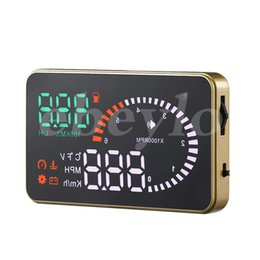 Wholesale Wholesale Car Alarms - Professional Car Alarm System X6 HUD Projector Head Up Display KM h MPH Over Speeding Warning OBD II Inteface HUD Styling K3072