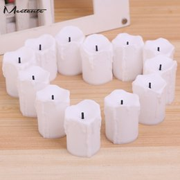 Wholesale Tealight Lamp Wholesale - Meetcute 12pcs Led Electronic Flameless Battery Powered Tealight Candle Lights Candle Lamps Wedding Valentine 'S Day Party Decora