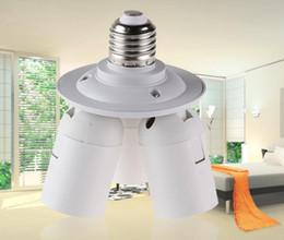 Wholesale Lamp Socket Splitter - 3 In 1 E27 Base Socket 110V-240V Lamp Socket Splitter Light Lamp Bulb Adapter Holder Photo Video Studio LLFA