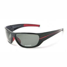 Envolver alrededor de marcos online-Gafas de sol deportivas polarizadas para hombres con marco TAC Grey Lens para hombre Conducción / Pesca / Golf / Baseball Gafas de sol Eyewear