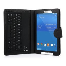 Wholesale Silicon Tablet Keyboard - wholesale For Samsung Galaxy Tab 4 8.0 T330 T331 T335 Tablet Silicon Bluetooth Keyboard Teclado Case Cover