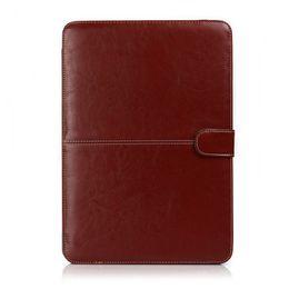 2019 capa de couro apple macbook pro 100 PCS Faux Leather Laptop Folio Livro Wallet Case Capa Para Apple Macbook Air Pro 11 '' 12 '' 13