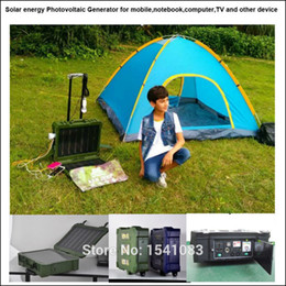 Wholesale Solar Portable Generator System - New and hot selling outdoor Solar Energy Photovoltaic generator system for phone,pc,TV,DC fan,notebook,camera,digital audio