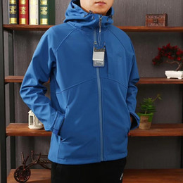Wholesale Men Hoodie Warm Long - Brand AV Couple Long Sleeve Hoodie Coat Men Women Jacket Warm-up Top Clothes Windbreaker Coat Winter Autum Sports Hiking Jackets