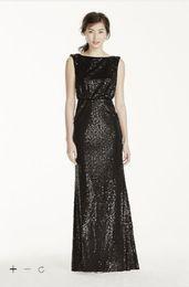 Wholesale Designer Style Long Sleeve Dresses - Vintage 2016 Designer Occasion Sheath Stunning all over sequin cap sleeve V back Style F19022 Bridesmaid Dresses