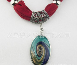 Wholesale Jewellery Design Scarves - Wholesale - pendants scarf jewelry New scarf with jewellery cotton soft scarves beads Mix design & Colors WY98 100p