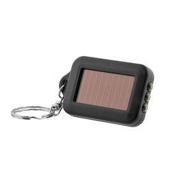 Wholesale Wholesale Mini Solar Flashlight - Free Shipping 2016 New Mini Portable Solar Power 3LED Light Keychain Torch Flash Flashlight Key Ring Gift Rechargeable Useful