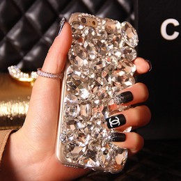 Wholesale Rhinestone Cover For S4 - Bling Crystal Rhinestone Diamond Phone Case Cover For Iphone 6 Plus 5S 5C 4S Samsung Galaxy Note 5 4 3 2 S6 Edge Plus S5 S4 S3