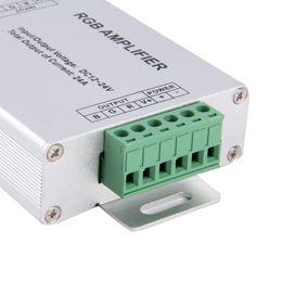 Wholesale Dc 12v Amplifier - Edison2011 Wholesale LED Strip RGB Amplifier DC12V RGB Controller For 3528&5050 SMD RGB LED Strip Light Free Ship