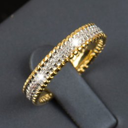 Wholesale R Cluster - Wholesale- 2016 R&J New fashion Real 925 sterling silver ring 5A Zircon Wedding Band Jewelry Gold filled plated of women gift