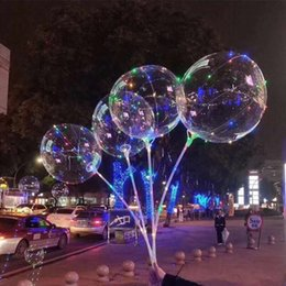 Wholesale Led Christmas Lights Clear - Children gift 18 inch LED lights CLEAR Bobo ball colorful light night light balls balloon air balloon Christmas Wedding Party children home