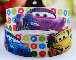 "Wholesale Car Ribbon Print - 15% off new style 7 8""(22mm) grosgrain ribbon 100% polyester cars cartoon Printed Gift packaging belt bows hair Accessories 50 yard OEM"
