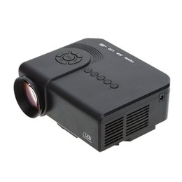 Wholesale Lcd Projector Hdmi Port - Home theater video LED Projector with USB SD VGA HDMI AV Port 800:1 200LM Portable Mini TV Projector with Remote Controller