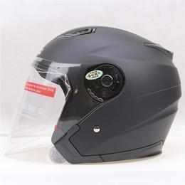 fahrradfarbe rosa Rabatt Großhandels-leichte Sicherheit Motorradhelm JIEKAI offenes Gesicht Helm 6 Farbe avialable Roller Fahrradhelm